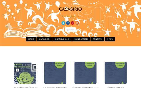 Screenshot of Press Page casasirio.com - News - captured Nov. 1, 2014