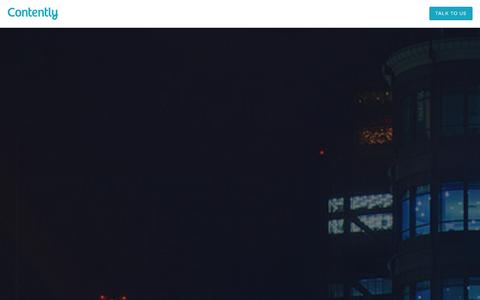 Screenshot of About Page contently.com - Contently - Home - captured Dec. 13, 2015