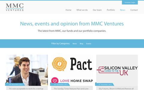 Screenshot of Press Page mmcventures.com - News - MMC Ventures - captured Dec. 3, 2015
