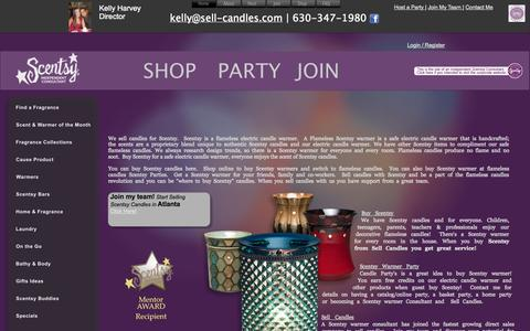 Screenshot of Home Page sell-candles.com - Buy Scentsy | Sell Candles | Scentsy Warmer - captured Oct. 7, 2014