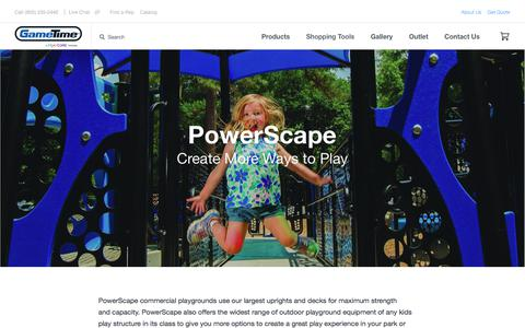 PowerScape | Outdoor Playground Equipment | GameTime