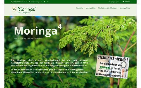 Screenshot of Home Page moringa4.de - Moringa 4 - deutsche Studie belegt Wirksamkeit - captured March 16, 2016
