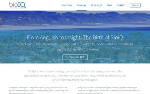 Screenshot of About Page bioiq.com - About Us - BioIQ - captured Nov. 14, 2015