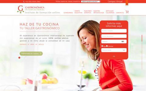Screenshot of Home Page gastronomicainternacional.com - Gastronómica Internacional | Escuela de Gastronomía Online - captured Aug. 6, 2016