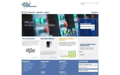 Screenshot of Home Page alphatechnologies.eu - Energy Conversion / Reliable Power Solutions | Alpha Technologies - captured Oct. 4, 2014