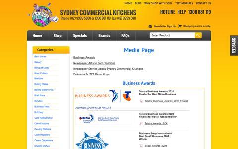 Screenshot of Press Page sydneycommercialkitchens.com.au - Media & Press Releases Sydney Commercial Kitchens, Catering equipment - captured Sept. 22, 2014