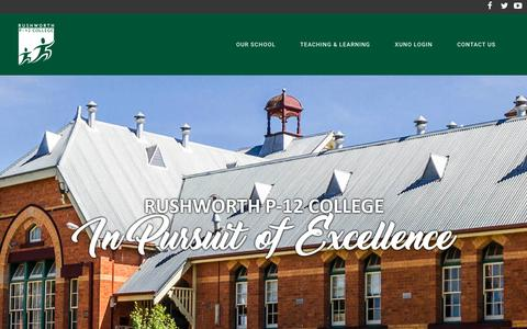 Screenshot of Home Page rushworthp-12.vic.edu.au - Rushworth P-12 College | In Pursuit of Excellence - captured Jan. 13, 2017