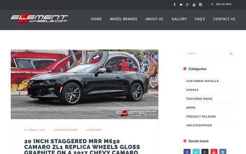 Screenshot of Blog elementwheels.com - Element Wheels | - captured Feb. 14, 2018