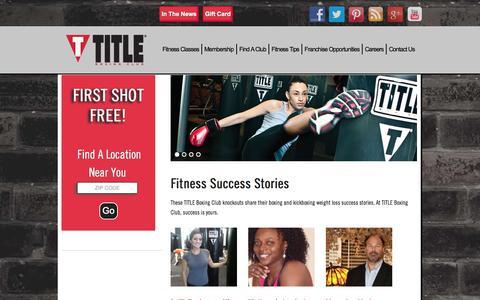 Screenshot of Testimonials Page titleboxingclub.com - TITLE Boxing Club  |  TITLE Boxing Club | Fitness Success Stories - captured Sept. 19, 2014