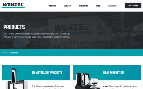 Screenshot of Products Page wenzelamerica.com - Products - Wenzel America - captured Nov. 15, 2017