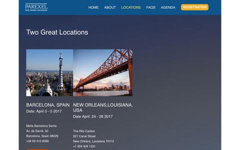 Screenshot of Locations Page parexel.com - Locations | PAREXEL - captured Dec. 7, 2017