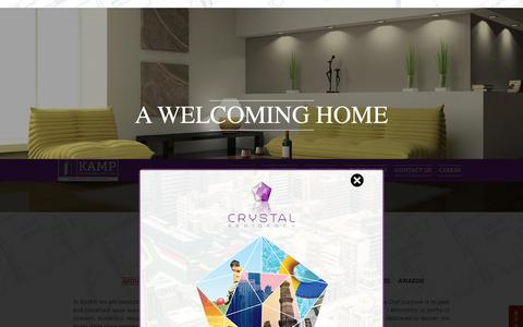Screenshot of About Page kampdevelopers.com - Best Real Estate Company in Delhi NCR|Affordable Residential Properties in DDA L-Zone,Dwarka - captured Sept. 24, 2015