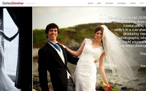 Screenshot of Testimonials Page zacharydonohue.com - Testimonials - Wedding Photography by Zachary DonohueWedding Photography by Zachary Donohue - captured Aug. 16, 2015