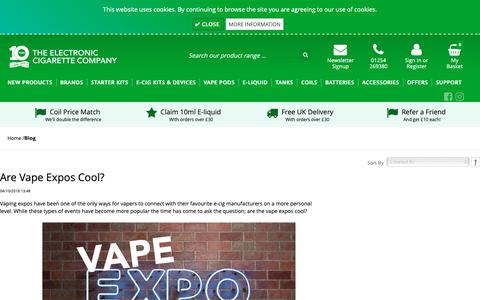 Screenshot of Blog theelectroniccigarette.co.uk - The Electronic Cigarette Company   TECC - captured Oct. 12, 2018