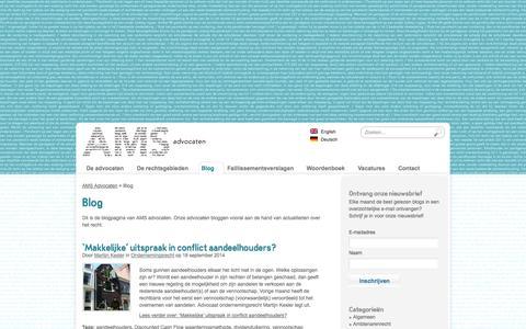 Screenshot of Blog amsadvocaten.nl - Blog AMS Advocaten Amsterdam - captured Sept. 19, 2014