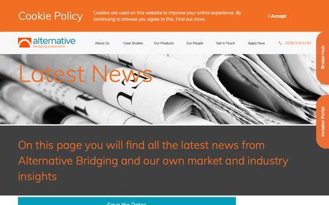 Screenshot of Press Page alternativebridging.co.uk - News - Alternative Bridging Corporation - captured Oct. 3, 2018