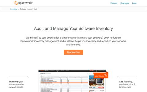 Free Software Inventory Management & Audit Tool from Spiceworks