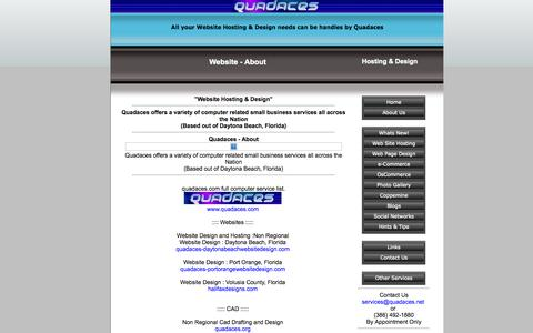Screenshot of About Page quadaces.net - Website Design & Website Hosting. Port Orange, Daytona Beach, Orlando, - About - captured Oct. 3, 2014