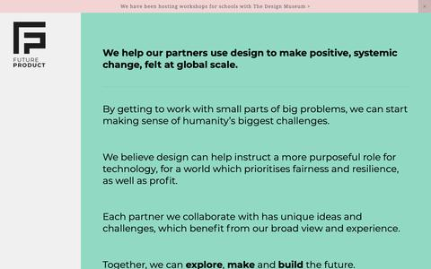 Screenshot of Home Page futureproduct.studio - Future Product - captured Oct. 13, 2018