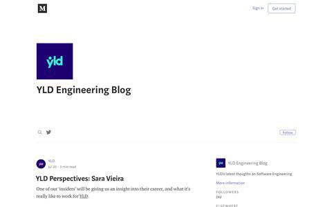 Screenshot of Blog medium.com - YLD Engineering Blog – Medium - captured July 26, 2018