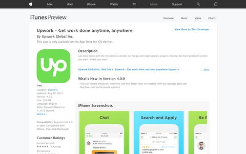 Upwork – Get work done anytime, anywhere on the App Store