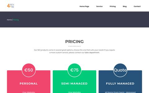 Screenshot of Pricing Page fast4you.nl - Pricing – Fast 4 You - captured Aug. 12, 2018