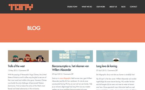 Screenshot of Blog studiotony.nl - blog | Studio Tony - captured Aug. 16, 2015