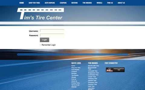 Screenshot of Login Page timstirecenter.com - User Log In - captured Nov. 13, 2017