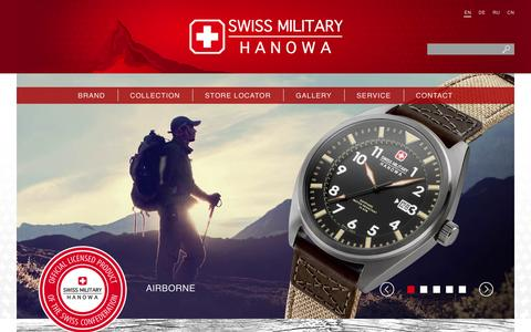 Screenshot of Home Page swissmilitary.ch - Home - captured Feb. 17, 2016