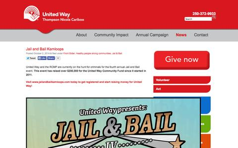 Screenshot of Blog Press Page unitedwaytnc.ca - United Way – Thompson Nicola Cariboo   Blog - captured Oct. 26, 2014