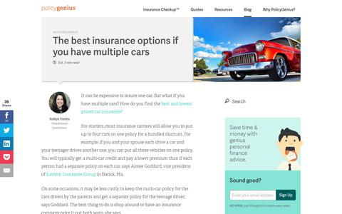 The best insurance options if you have multiple cars
