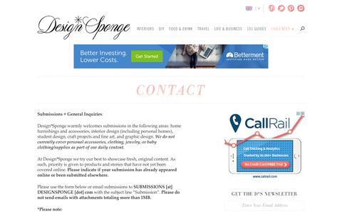 contact | Design*Sponge