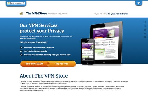 Screenshot of About Page Terms Page thevpnstore.com - TheVPNStore - Your Safety Net - captured Oct. 9, 2014