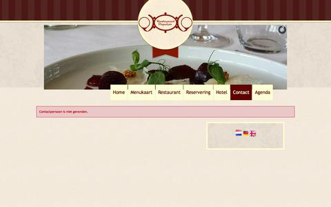 Screenshot of Login Page restaurant-populair.nl - Contact - captured Feb. 25, 2016