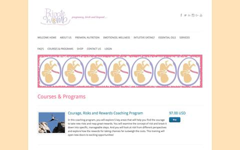 Screenshot of Products Page coachesconsole.com - Courses & Programs - captured July 11, 2018
