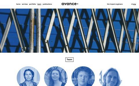Screenshot of Team Page avance-impact.nl - Avance team - captured Jan. 29, 2017