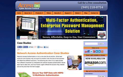 Screenshot of Case Studies Page access-smart.com - Network Access Authentication - Access Smart Case Studies - captured Oct. 10, 2014
