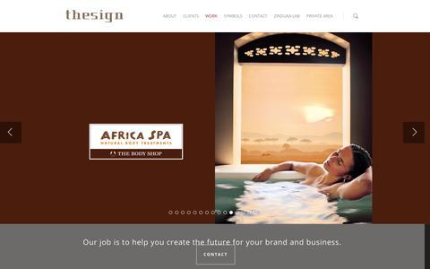 Screenshot of Home Page thesign.biz - THESIGN | Creative Branding Agency - captured Jan. 11, 2016