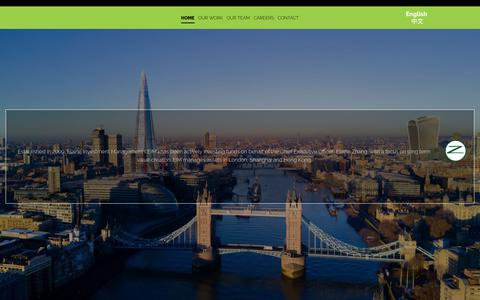 Screenshot of Home Page elainezhang.com - Investment Management Company | Fitzrovia, London - captured July 9, 2018