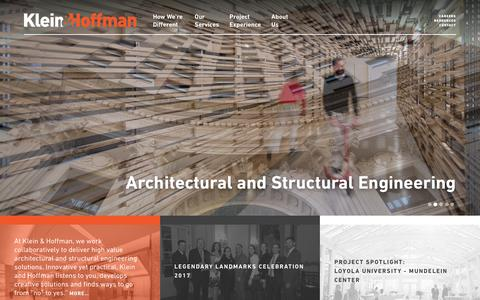 Screenshot of Home Page kleinandhoffman.com - Klein & Hoffman – Architectural & Structural Engineering - captured June 9, 2017