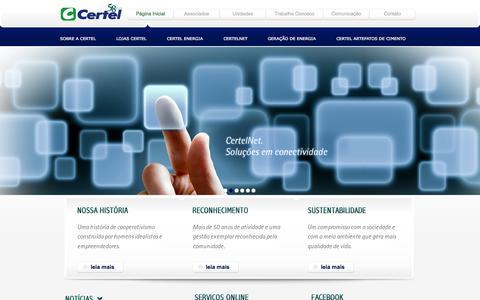 Screenshot of Home Page certel.com.br - Certel – 58 anos vivendo para sua gente. - captured Sept. 26, 2014