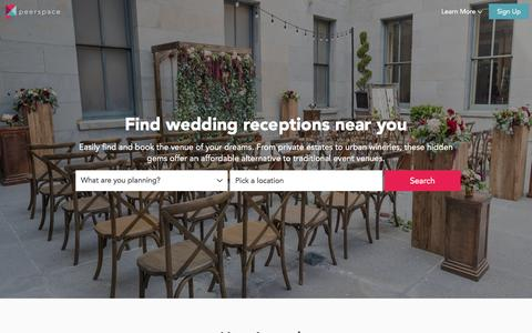 Top 10 Wedding Receptions  Near You | Peerspace