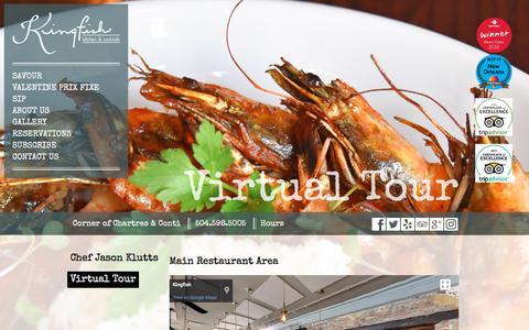 Screenshot of About Page kingfishneworleans.com - Virtual Tour | Kingfish - captured Feb. 18, 2018