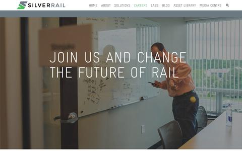 Screenshot of Jobs Page silverrailtech.com - Careers | Silverrail - captured Nov. 1, 2017