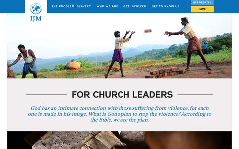 For Churches | International Justice Mission