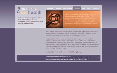 Screenshot of About Page medicarebiohealth.ie - About us | Medicare BioHealth - captured March 6, 2016