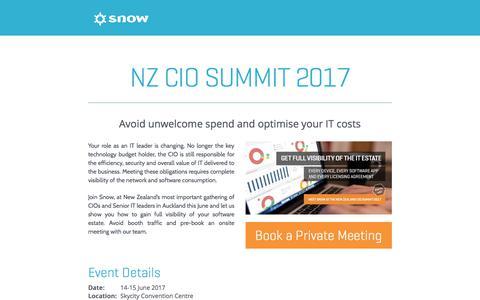 Screenshot of Landing Page snowsoftware.com - Snow Software - captured June 25, 2017
