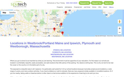 Screenshot of Locations Page spatech.edu - Spa Tech Institute - Locations - captured March 18, 2019