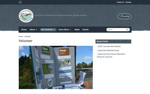 Screenshot of Signup Page deschutesestuary.org - Volunteer | Deschutes Estuary Restoration Team - captured Nov. 24, 2016