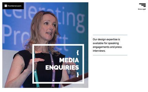 Screenshot of Press Page frontend.com - Media Enquiries for Frontend.com - Frontend.com | Dublin | Ireland - captured June 6, 2017